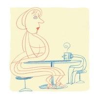 Couple at a café