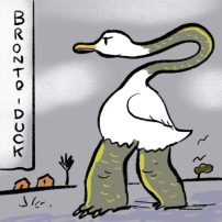 Bronto-duck